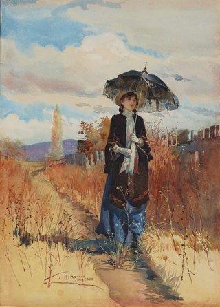 AGNSW collection Julian Ashton A solitary ramble (1888) 18