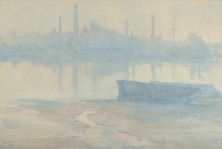 AGNSW collection Arthur Streeton Morning mist on the Thames circa 1906