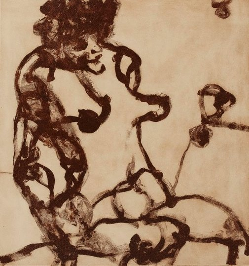 An image of The woman by John Olsen