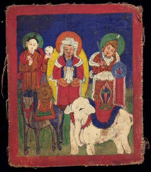 An image of The seven treasures by Unknown