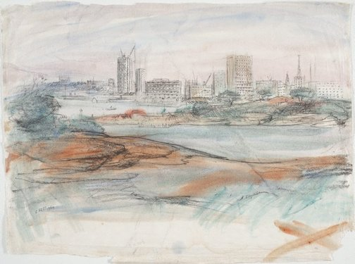 An image of View of the city from the North Shore, Sydney by Lloyd Rees