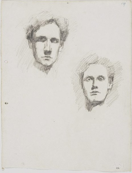 An image of recto: Self portraits verso: Self portraits by Lloyd Rees