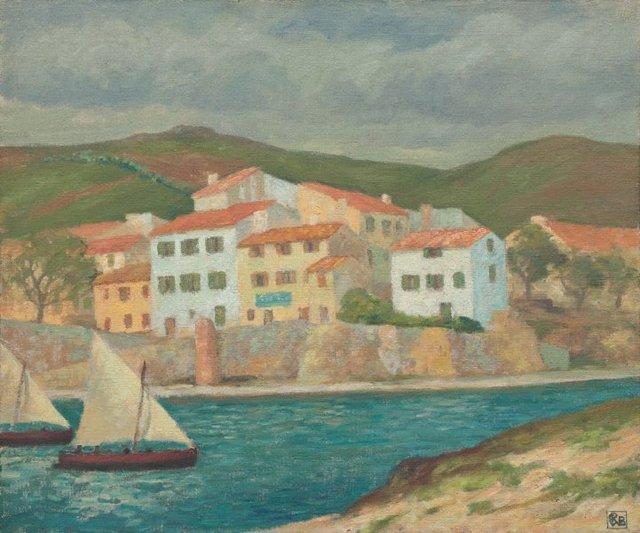 An image of Fishermen's houses, Port Vendres