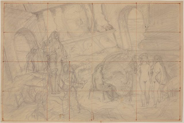 An image of Studies for 'The judgement of Paris' (Compositional study)