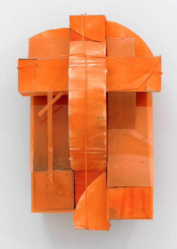 An orange constructed one, 1993,  by Rose Nolan