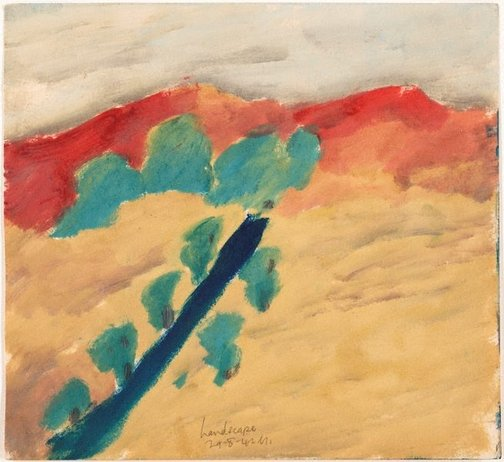 An image of Landscape by Sidney Nolan