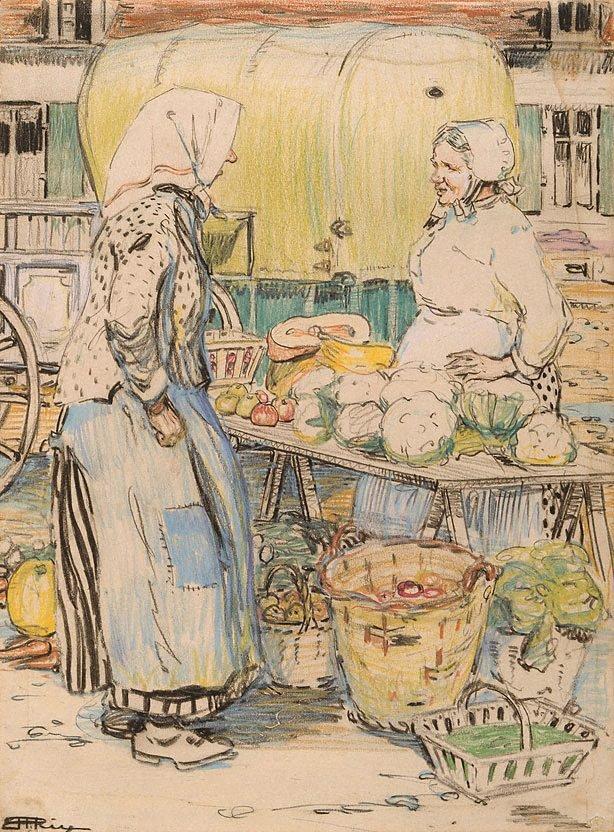 An image of Fruit market, Etaples I