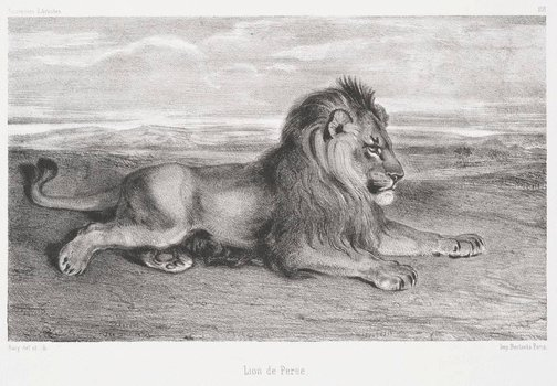 An image of Lion of Persia by Antoine-Louis Barye