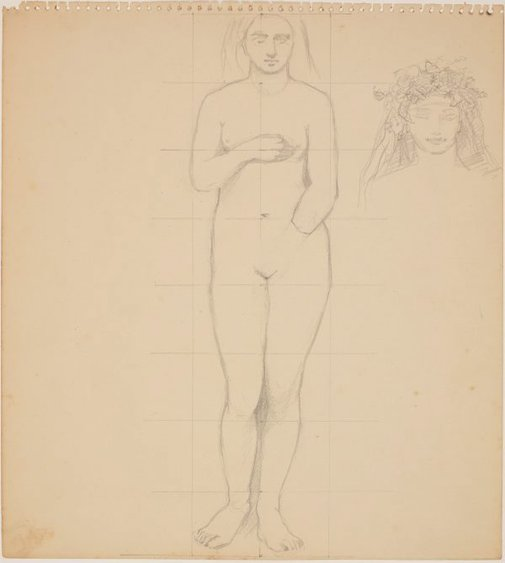 An image of Studies for 'The judgement of Paris' (Study for female figure) by James Gleeson