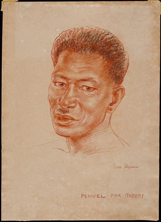 An image of Penuel - a head study of a Solomon Islander