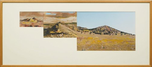 An image of Pseudo panorama. Cazneaux series: no 2 'Far flung ranges of the Finders' by Ian North