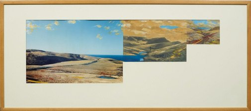 An image of Pseudo panorama. Cazneaux series: no 5 'Rapid Bay landscape SA' by Ian North
