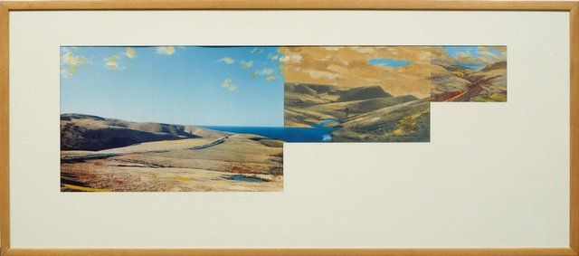 An image of Pseudo panorama. Cazneaux series: no 5 'Rapid Bay landscape SA'