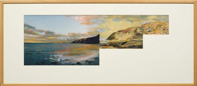 An image of Pseudo panorama. Cazneaux series: no 4 'Rapid Bay SA'