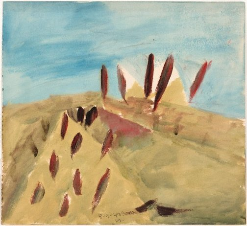 An image of Untitled (landscape) by Sidney Nolan
