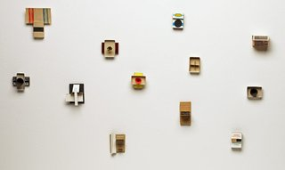 AGNSW collection Eugene Carchesio Matchbox constructions 1994-1995