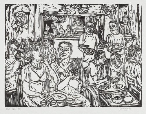 An image of Eating at Uno Uno by Salvatore Zofrea