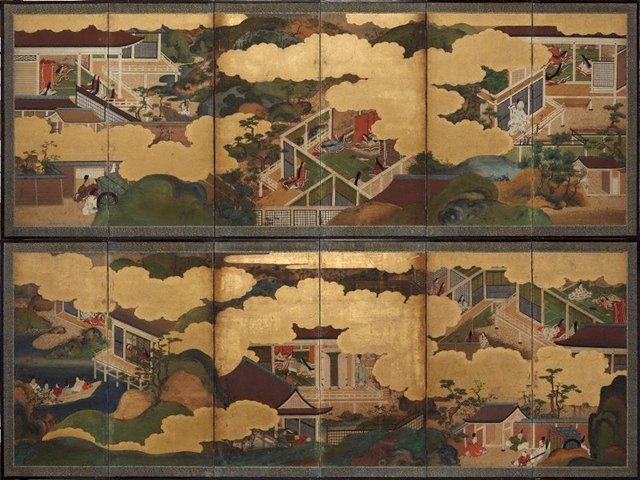 An image of Six scenes from 'The Tale of Genji'
