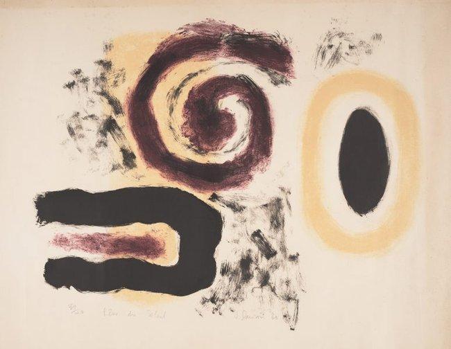 AGNSW collection Janet Dawson Rêve du soleil (Sun dream) (1960) 182.2014