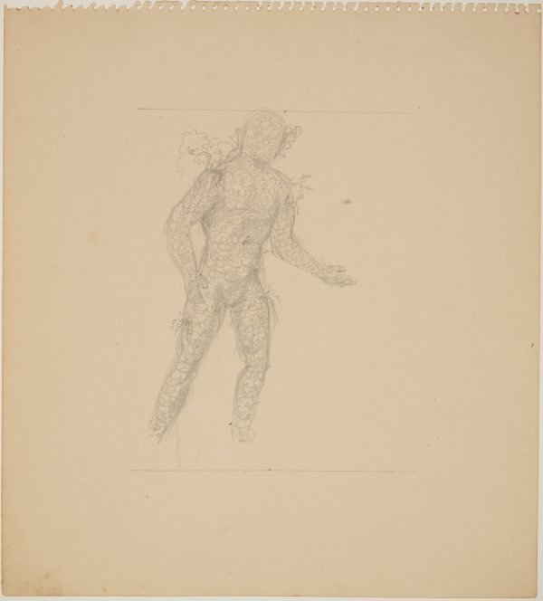 An image of Studies for 'The judgement of Paris' (Study for figure with scales)