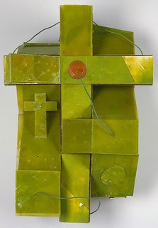 Lime green constructed one, (1993) by Rose Nolan