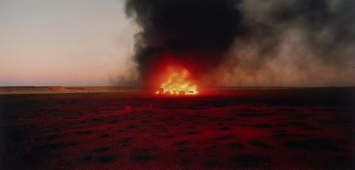 An image of burning Ayer #7 by Rosemary Laing