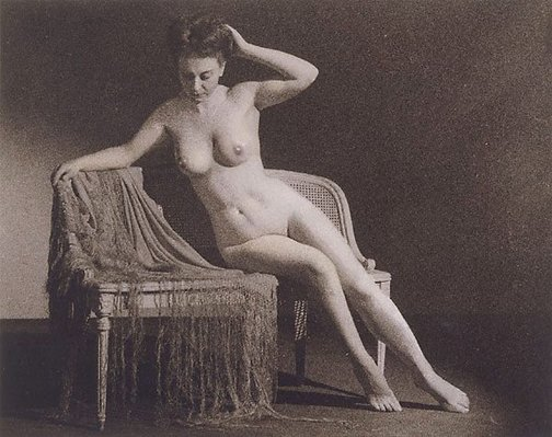 An image of Untitled (Nude and chair) by Arthur Ernest Chaffer