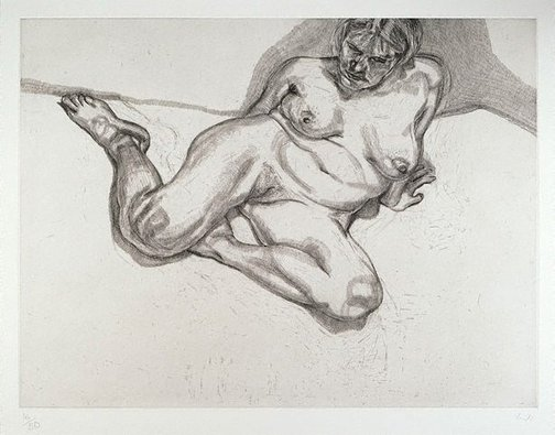 An image of Girl sitting by Lucian Freud