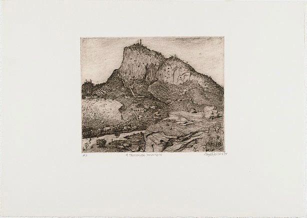 An image of A Tasmanian mountain