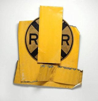 AGNSW collection Robert Rauschenberg Yellow visor glut (1989) 184.2010