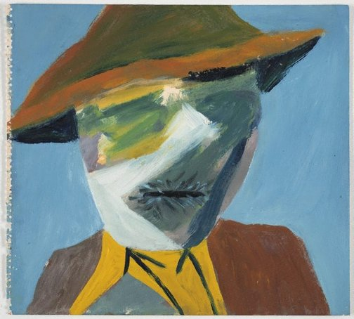 An image of Farmer, Dimboola by Sidney Nolan