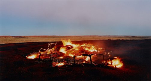 An image of burning Ayer #12 by Rosemary Laing