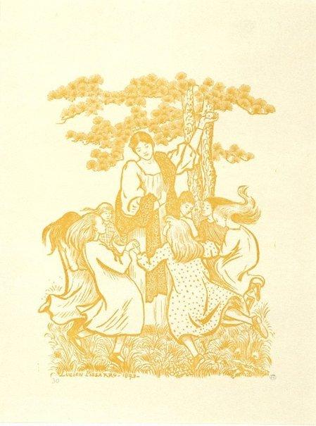 An image of Ronde des enfants by Lucien Pissarro