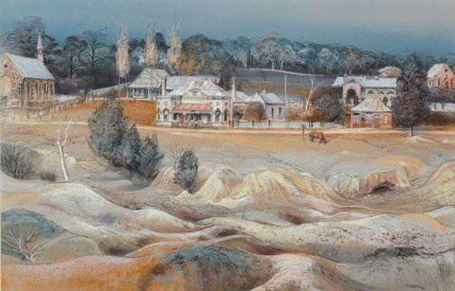 An image of Across the diggings, Hill End, New South Wales by Kenneth Jack
