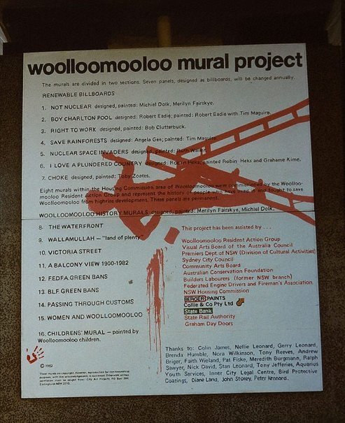 An image of Woolloomooloo mural project. Documentation of community art project by Michiel Dolk, Merilyn Fairskye