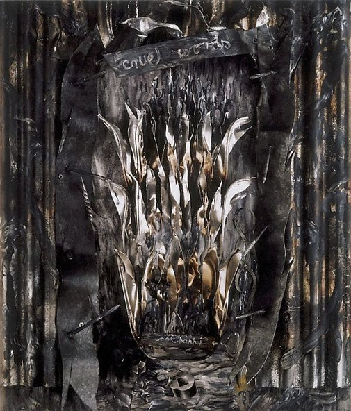 An image of Inferno, Canto III: The gates of hell by Fiona Hall
