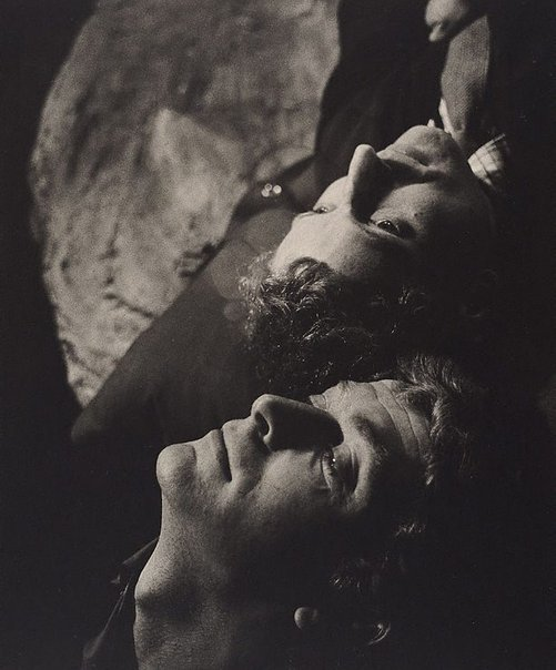 An image of Michael Caine and Barry Foster in 'Next time I'll sing to you' by James Saunders, New Arts Theatre, London by Lewis Morley