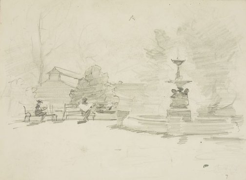 An image of Fountain, Cook Park, Orange by Lloyd Rees
