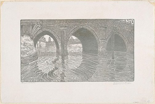 An image of Bridge at Mechelen by Wijnand Nieuwenkamp