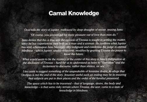 An image of Carnal knowledge by Anne Ferran