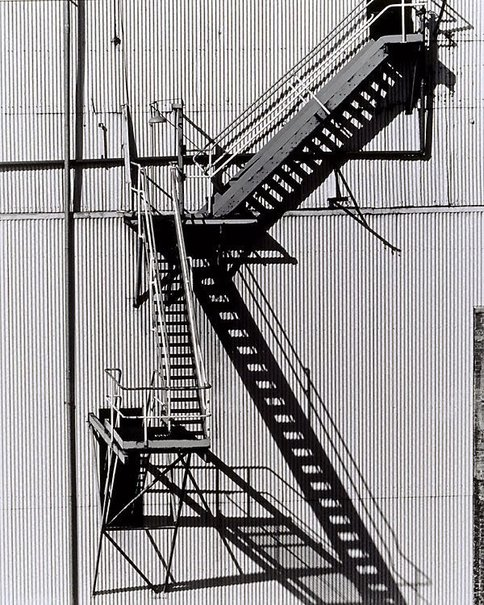 An image of Stairway from old boiler station to coal elevator by Mark Johnson