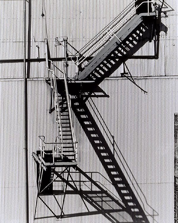 An image of Stairway from old boiler station to coal elevator