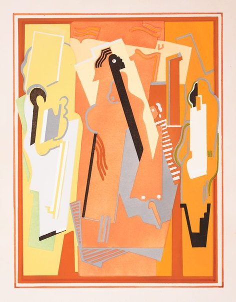 An image of Painting in three elements by Albert Gleizes