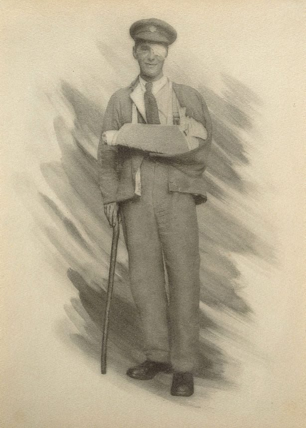 An image of War-time types III: the wounded Tommy