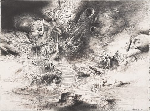An image of Study for 'The prepared grove' by James Gleeson