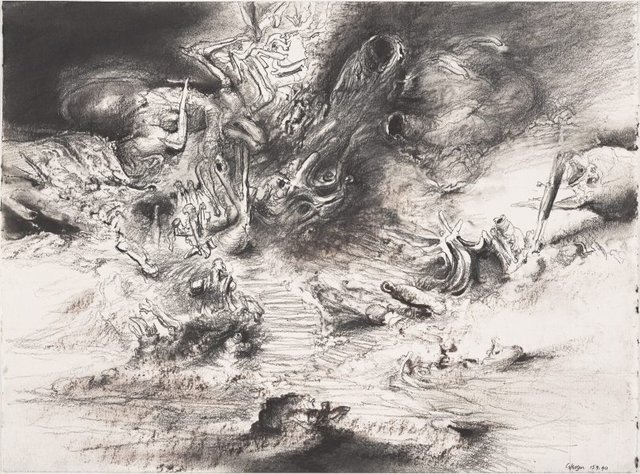 An image of Study for 'The prepared grove'