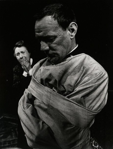 An image of Trevor Howard in 'The father' by August Strindberg, Piccadilly Theatre, London by Lewis Morley