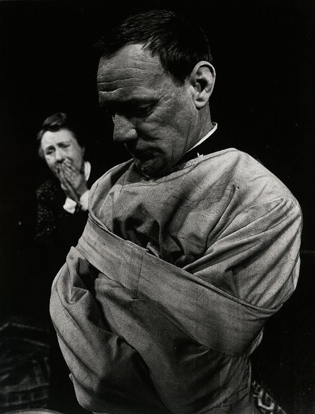 An image of Trevor Howard in 'The father' by August Strindberg, Piccadilly Theatre, London