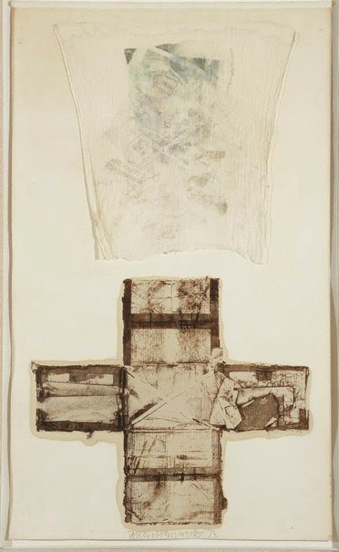 An image of Tampa collage by Robert Rauschenberg