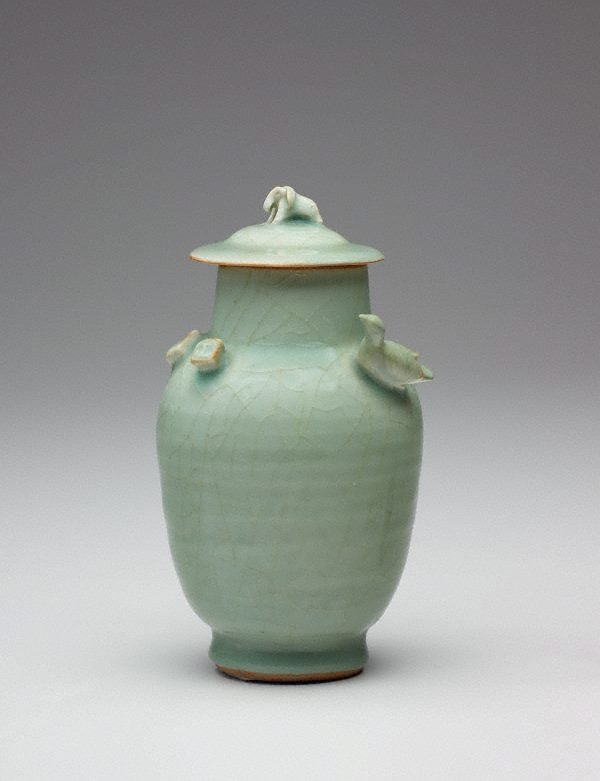 An image of Funerary vase and cover